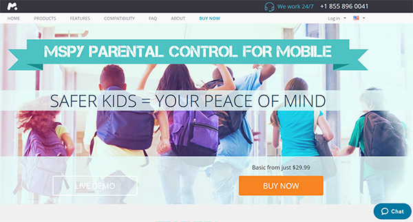 mSpy parental control software