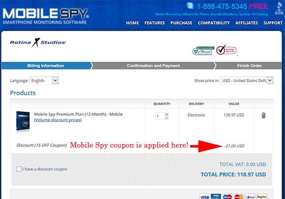 Mobile-Spy Coupon Code